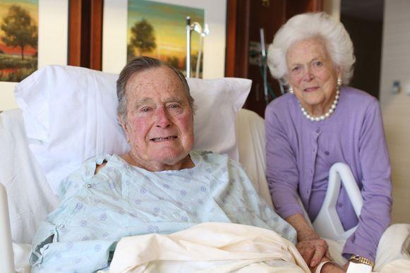 George en Barbara Bush, begin 2017. Ze overleden beiden dit jaar.