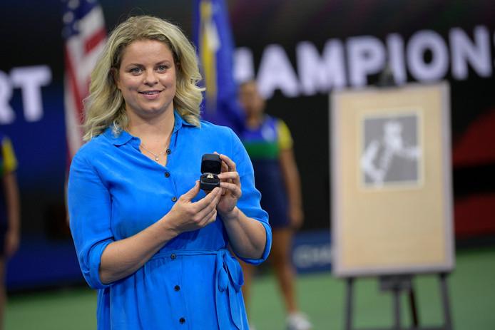 Kim Clijsters vorige week op de US Open.