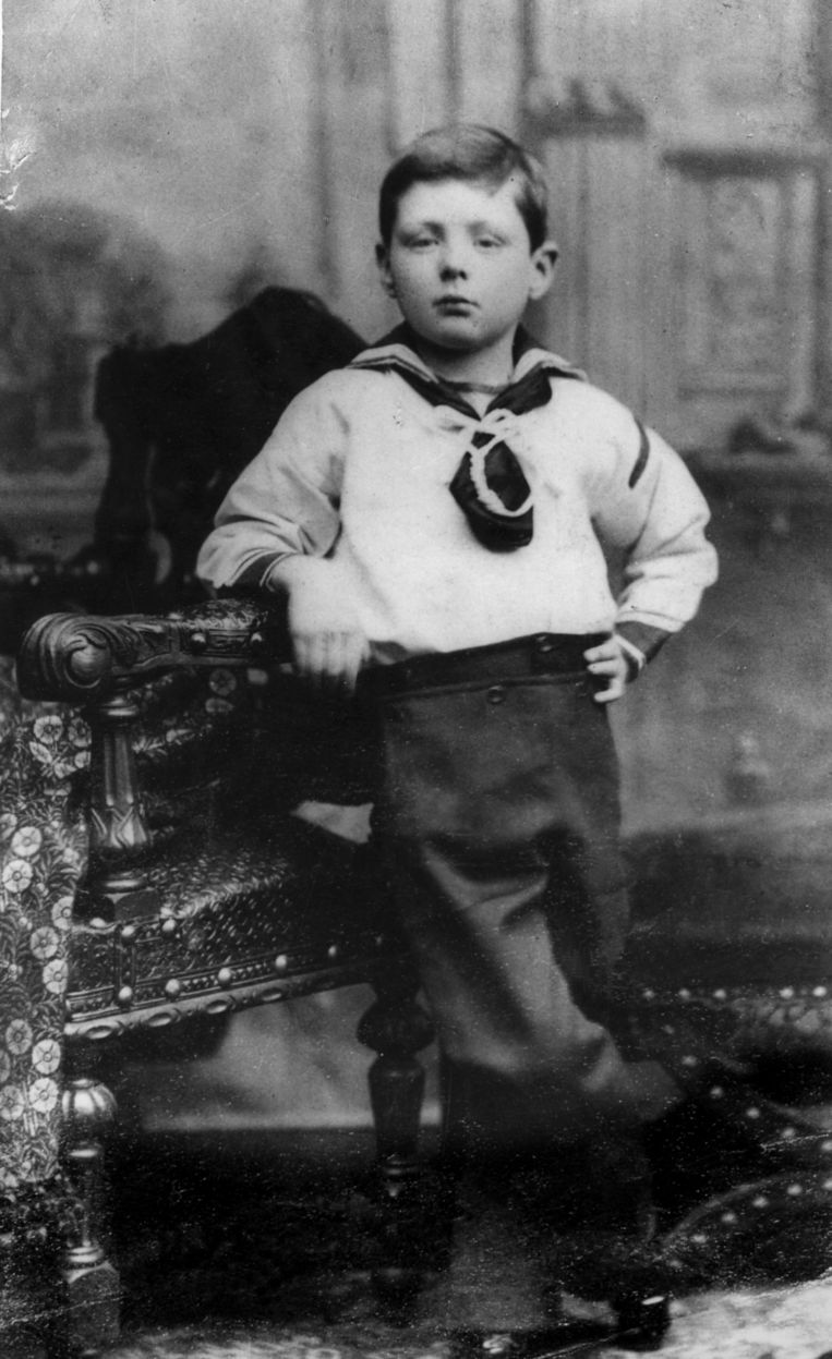Winston Churchill op 7-jarige leeftijd. Beeld Hulton Archive/ Getty