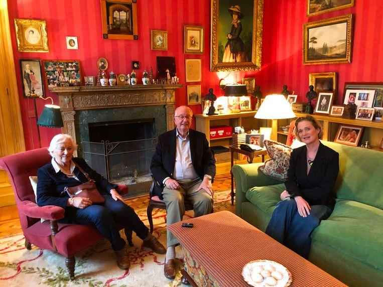 Koning Albert en koningin Paola hebben prinses Delphine gesproken. Beeld AFP