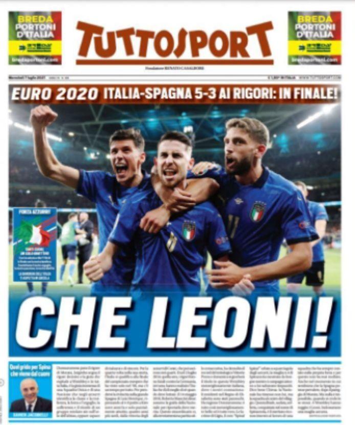 De front van Tuttosport.