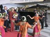 Koning Willem-Alexander landt in India voor het staatsbezoek