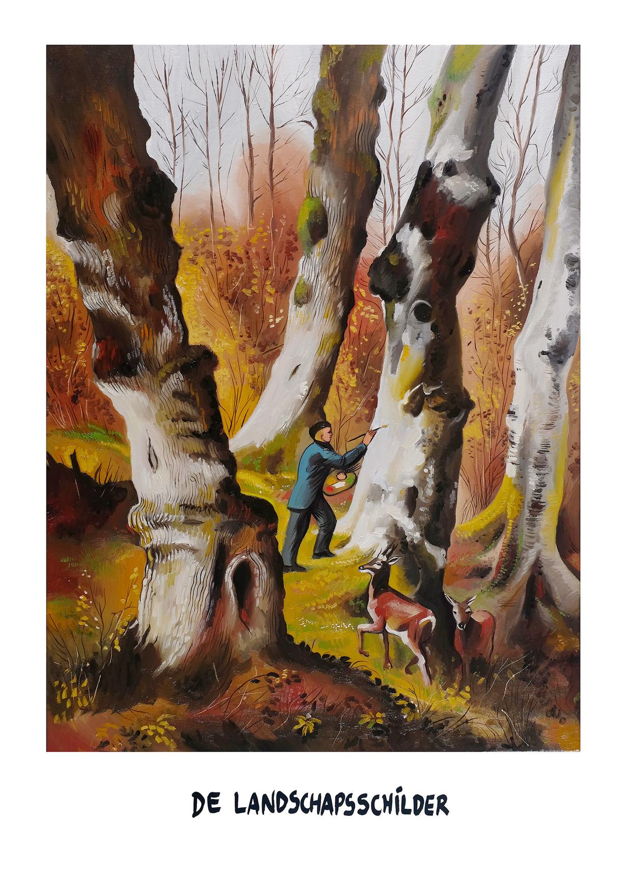Kama & Seele: de landschapsschilder Beeld Kamagurka & Herr Seele