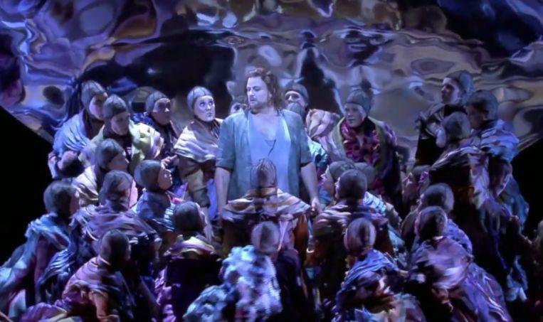 In een eerdere aflevering van Boed, zweet en aria's was te zien hoe gastsolist John Osborn de hoofdrol vertolkt in de door Terry Gilliam geregisseerde opera Benvenuto Cellini. Beeld AVROTROS