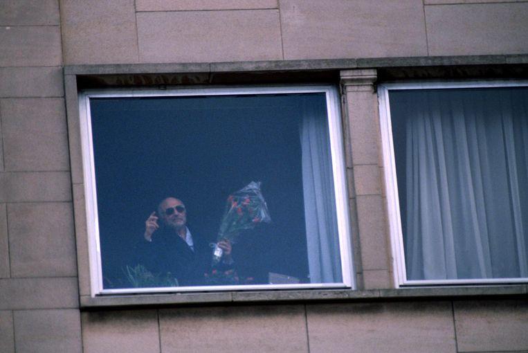 Ex-premier Paul Vanden Boeynants werd ontvoerd aan zijn appartement in Brussel. Beeld Photo News / Paul Versele