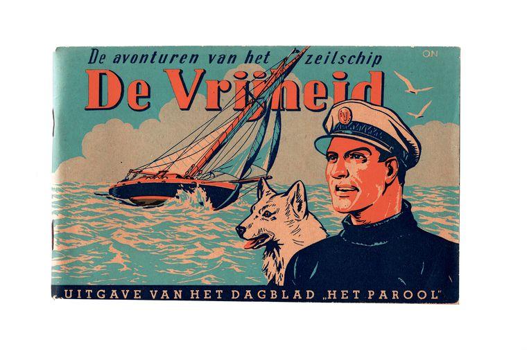 Het omslag van het eerste Kapitein Robboekje (1946). Beeld -