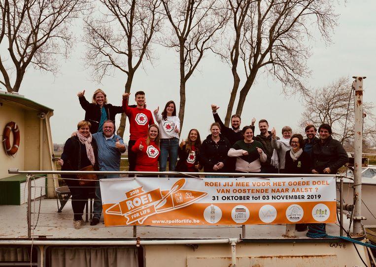 Roei For Life gaat van Oostende naar Aalst