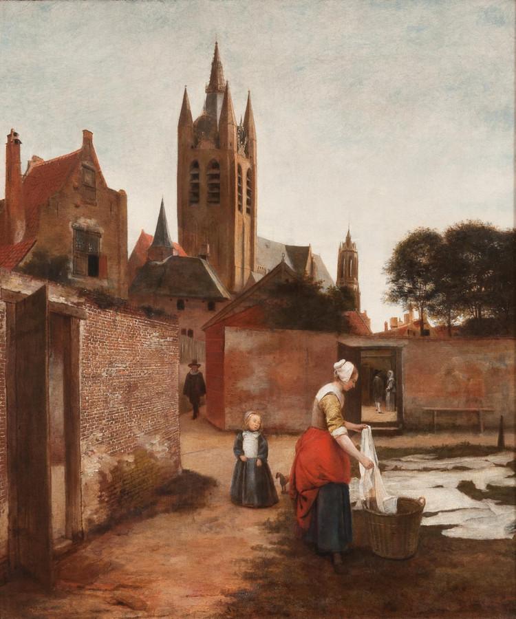 Pieter de Hooch schilderij Delft