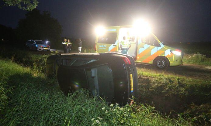 Ongeval aan de Bogtsteeg in Haaren.