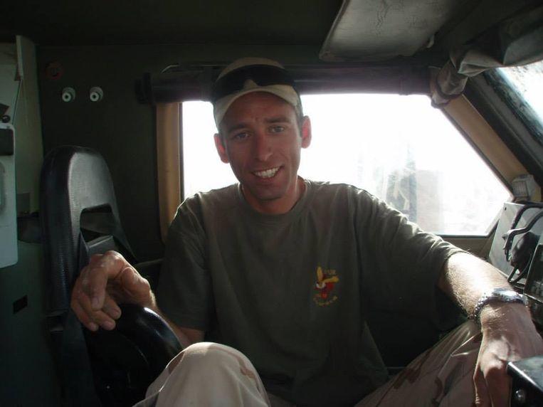 """Oscar van der Ven in 2007 in Afghanistan. """"Het was heel moeilijk om onderscheid te maken tussen de Taliban en burgers."""" Beeld"""