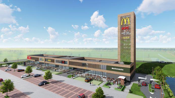 Zo komt het nieuwe foodcourt in Nieuwegein eruit te zien.