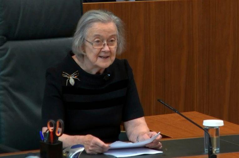 Supreme Court-voorzitter Lady Hale. Beeld AP