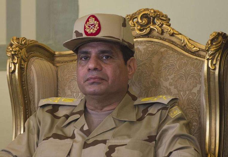 Legerleider Al-Sisi. Beeld ANP