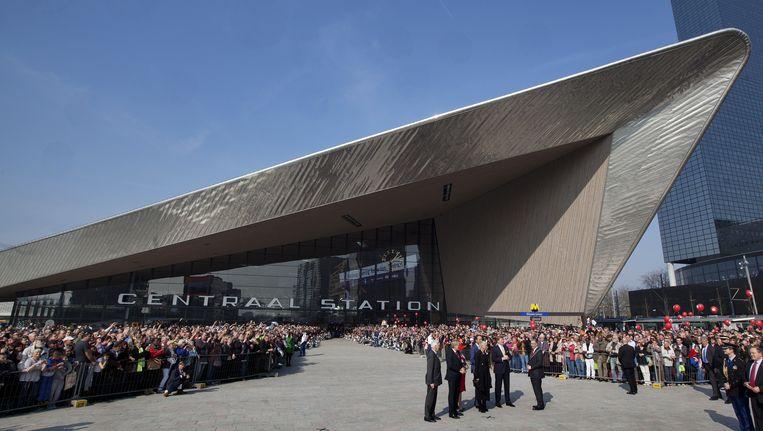 Rotterdam Centraal Station. Een samenwerking van Benthem Crouwel Architekten, MVSA Meyer en Van Schooten Architecten en West 8 Urban Design & Landscape Architecture. Beeld anp