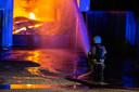 De brandweer aan het werk in Roosendaal.