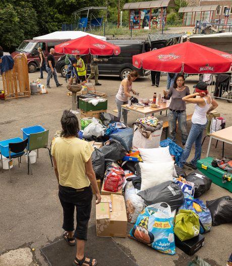 Les déblaiements et l'aide continuent à Chaudfontaine et à Trooz