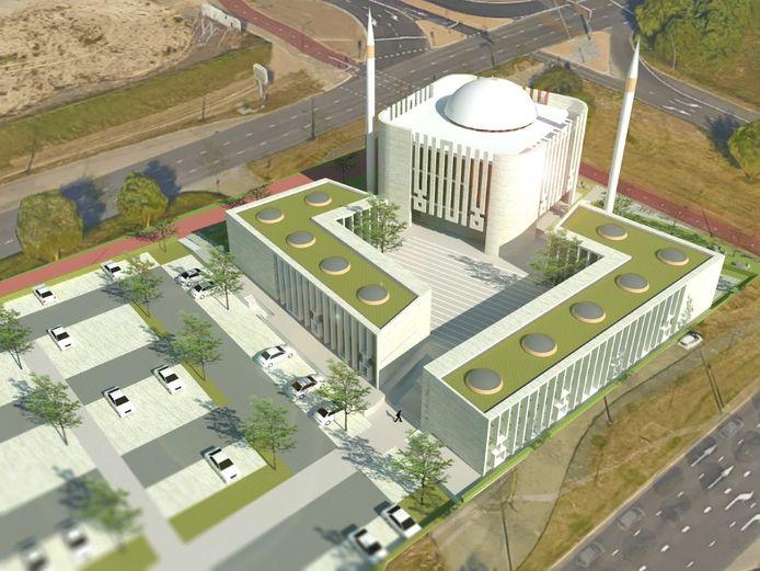 Ontwerp van de nieuwe moskee in Nijmegen.