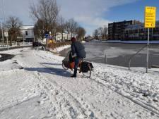 Het was weer glibberen op de fiets in Woerden: 'Fietser zit niet in de genen van de gemeente'