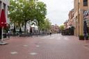 Een lege Markt in Eindhoven.