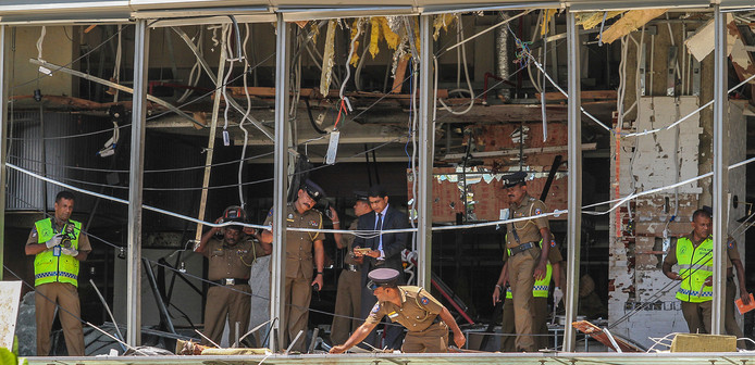 Veel buitenlandse slachtoffers verbleven in het Shangri-La Hotel in Colombo.