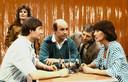 1982: De BB-Quiz met vlnr zanger Jan Keizer, Barry Hughes, Berend Boudewijn en  Joan Haanappel.