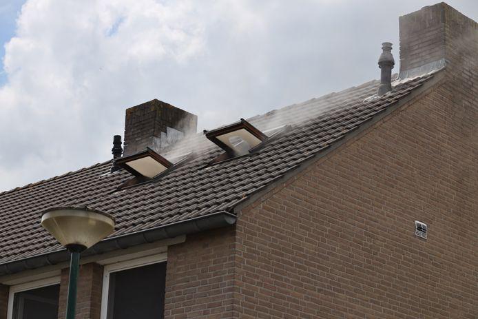 Veel schade aan huis na brand in Kaatsheuvel.