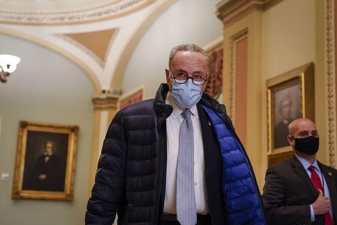 Chuck Schumer, leider van de Democratische meerderheid in de Senaat.