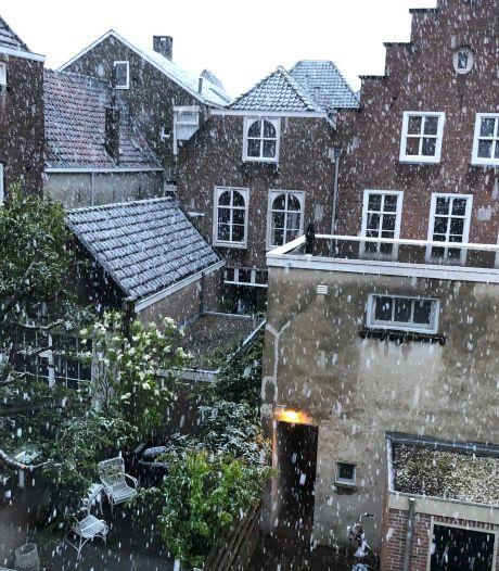 Sneeuw in mei: lokale onweersbuien trekken over Brabant