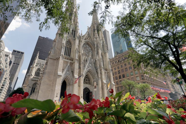 St. Patrick's Cathedral in New York.  Beeld AP