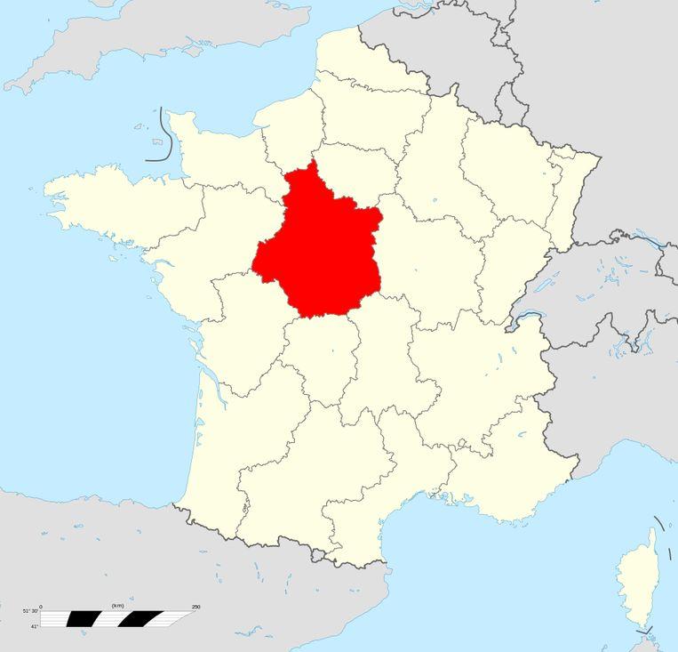 De regio Centre-Val-de-Loire. Beeld Creative Commons 4.0