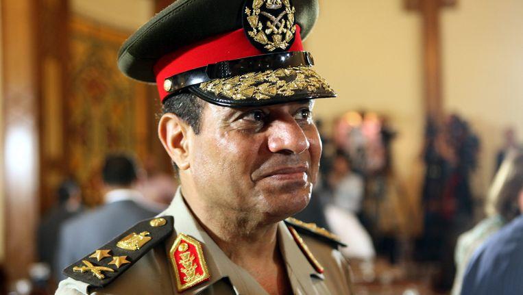 Na de val van Morsi in juli 2013 werd al-Sissi de sterke man in Egypte. Beeld EPA