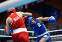 In actie bij de Europese Spelen in juni 2019 in Minsk tegen de Bulgaarse Stanimira Petrova.