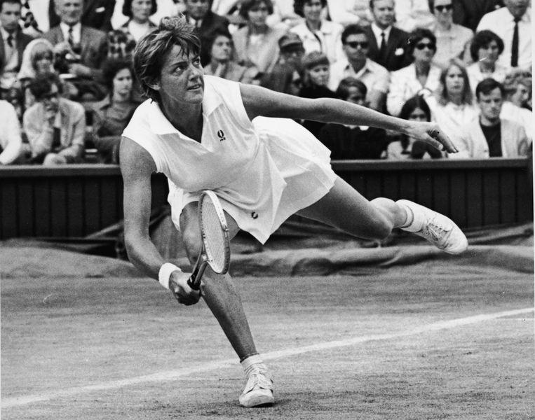 Margaret Court tijdens Wimbledon, 1970. Beeld Getty