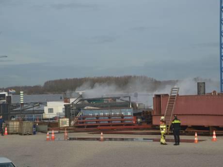 Brand op binnenvaartschip bij Drutense werf