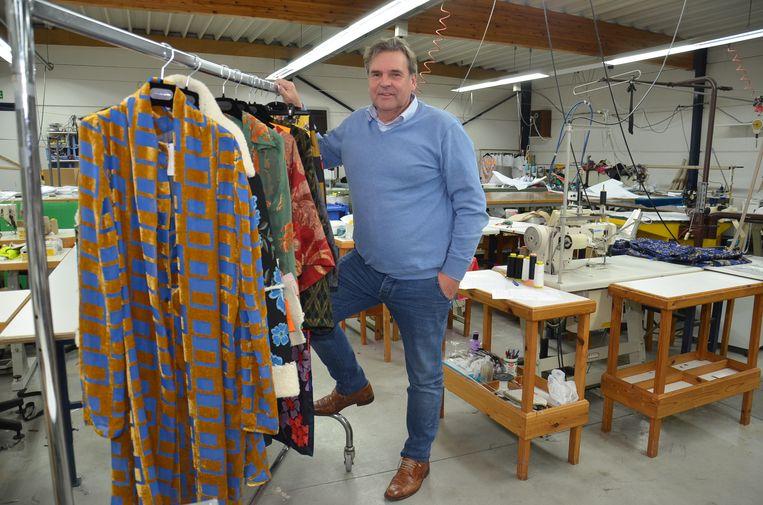 Walter Praet in zijn textielbedrijf Cloë.