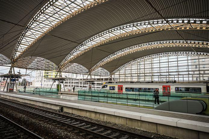Het Leuvense station.