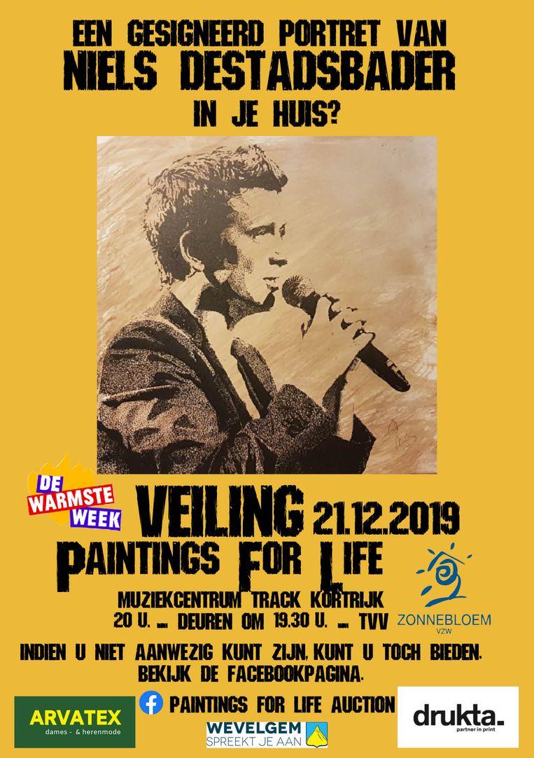 De  schilderijen van bekende muzikanten worden geveild op 21 december.