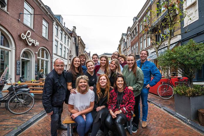 Winkeliers en bewoners Oudkerkhof.