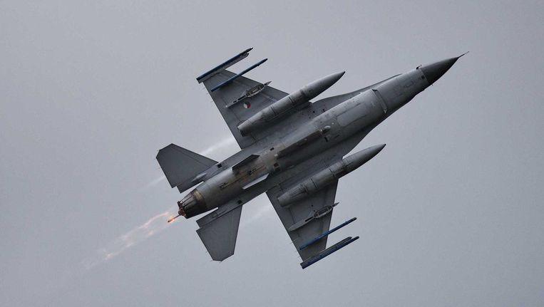 De Nederlandse F-16's zijn vandaag vertrokken uit Afghanistan. Beeld anp