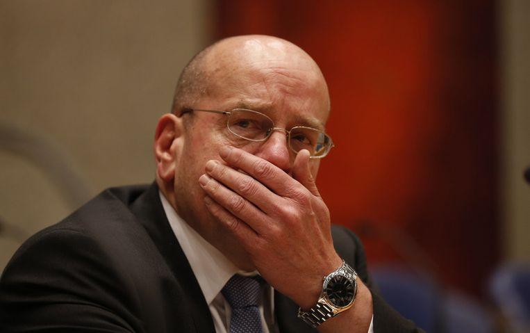 Staatssecretaris Fred Teeven van Asiel in het debat over de dood van Dolmatov. Beeld ANP