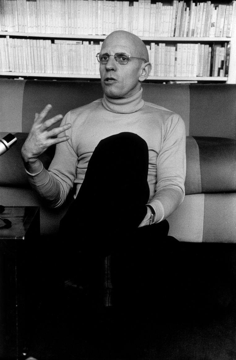Michel Foucault in coltrui. Beeld Hollandse Hoogte / l'Agence VU