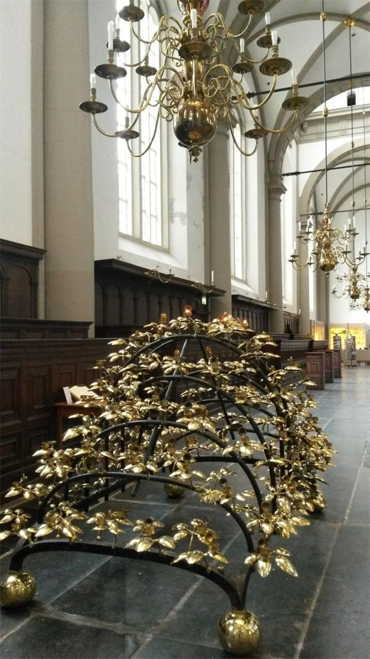 Het 'Brandende braambos' in de Westerkerk Beeld Gijsbert Siertsema