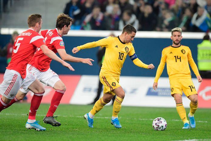 De Rode Duivels speelden ook in de kwalificaties al tegen Rusland.