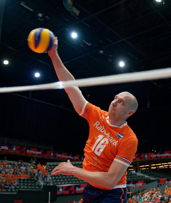 Wouter ter Maat in het shirt van Nederland.