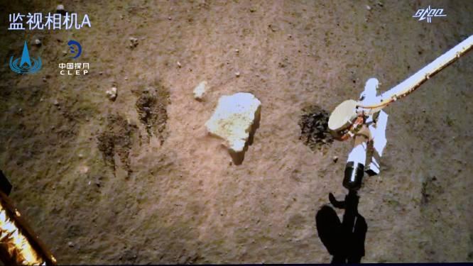 Chinese maanlander Chang'e 5 is klaar met graven en maakt zich op voor terugreis