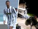 Cristiano Ronaldo haalt z'n supercars weg uit Turijn.