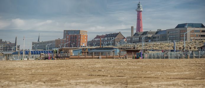 Een deel van de jaarrond-strandtenten op Scheveningen.