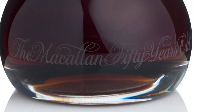 30.000 euro neergeteld voor fles 50 jaar  oude Schotse whisky