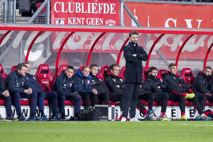 Gonzalo Garcia als trainer van FC Twente.