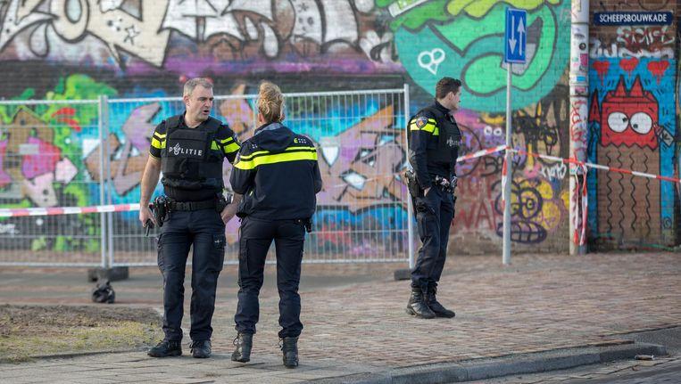 Politie op de plek van het schietincident in Noord. Beeld anp